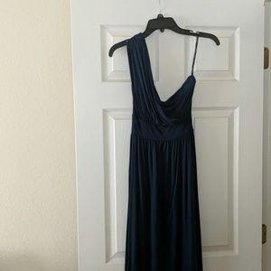 One shoulder cotton dress